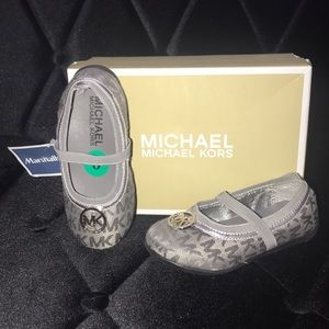Michael Kors silver flats brand new in box